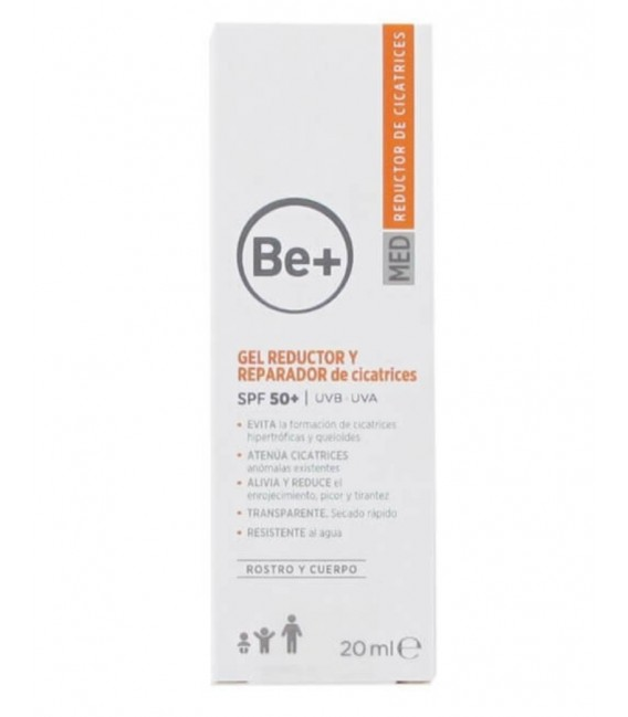 BE + GEL REDUCTOR Y REPARADOR DE CICATRICES SPF 50