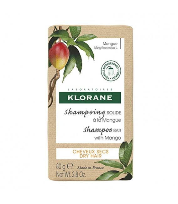 Klorane Champú sólido de Mango en barra 80g