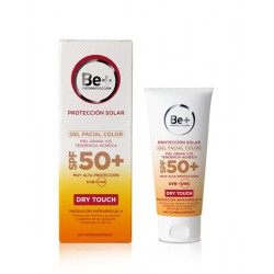 Be+ Gel facial color SPF50+ piel grasa y/o tendencia acneica