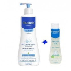 MUSTELA pack Gel de baño+ champu suave. piel normal.
