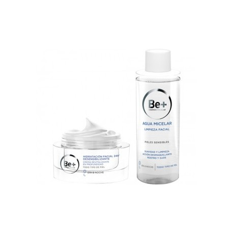 BE+ PACK AGUA MICELAR 200ML + HIDRATACIÓN CREMA 50ML.