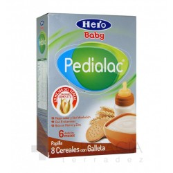 HERO PEDIALAC PAPILLA 8 CEREALES CON GALLETA. 500G