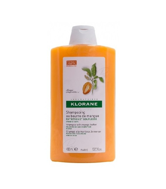 Klorane Champú Nutritivo a la Manteca de Mango 400ML